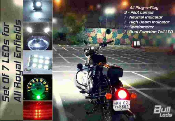 Bull-LEDs | 7 LEDs set | Royal Enfield Classic Machismo