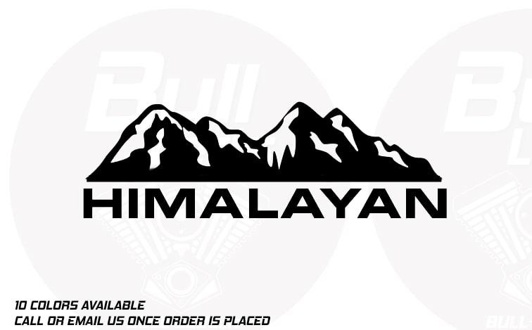 Bull Prints Gt Royal Enfield Himalayan Himalayan Mountain
