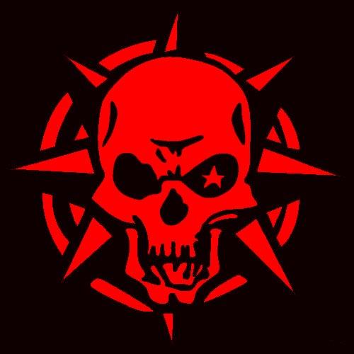 Bull Prints Gt Red Skull Star Bull Leds Guaranteed Custom
