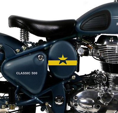 Bull prints starband decal royal harley enfield tool kit battery cover 2pcs