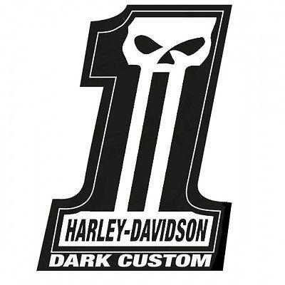 Bull prints harley n davidson tank helmet vinyl hd dark custom 4inch pair