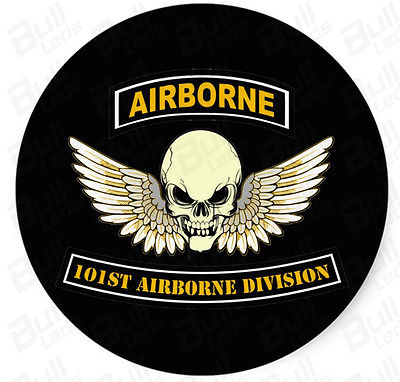 Bull prints 2pcs x airborne sticker for royal bike for 101st airborne window decals