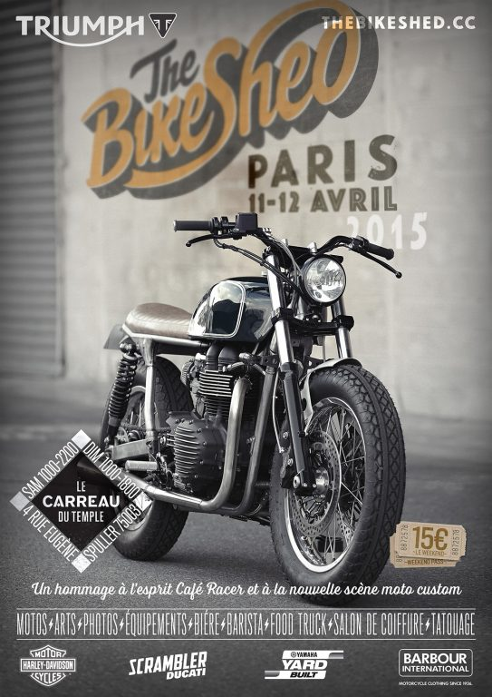 GARAGE POSTER - THE BIKE SHED PARIS for All Motorcycle