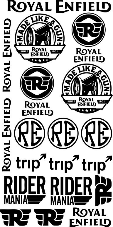 Royal enfield super 21 decals