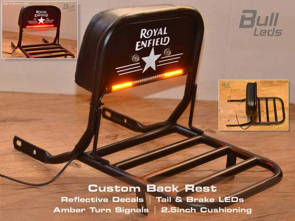 Custom Back Rest for Royal Enfield