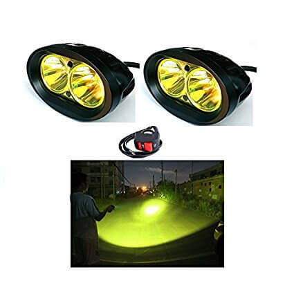 Bull-LEDs | Pair of 20w Auxiliary Flood Beam LED + On/Off switch
