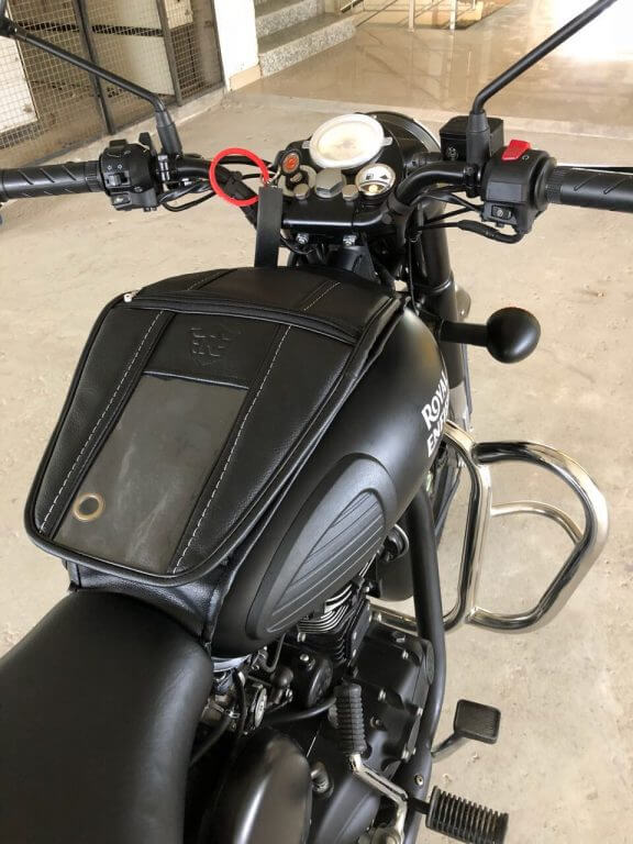 Navigation Mobile Pouch Tank Cover For Royal Enfield