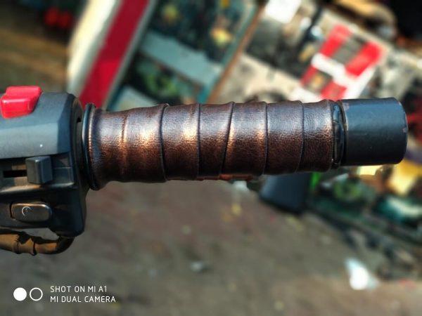 Bull-LEDs | Brown Mamba Premium Grip Wrap | Royal Enfield Harley
