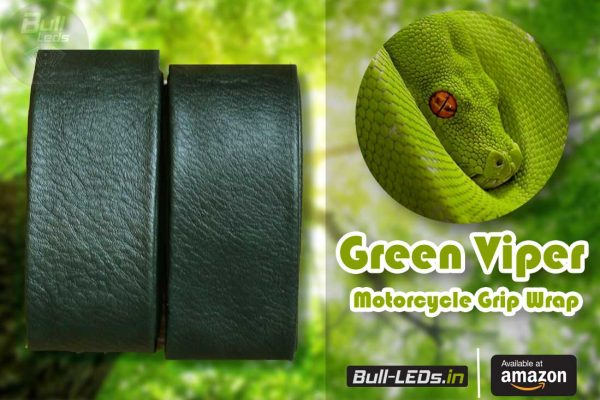 Bull-LEDs | Green Viper Premium Grip Wrap For Royal Enfield