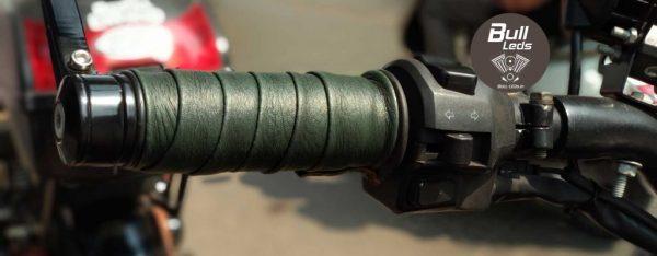 Bull-LEDs | Green Viper Premium Grip Wrap For Royal Enfield